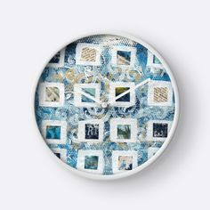"""""""Squares"""" Clocks by Evelyn Flint 