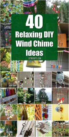 40 Relaxing Wind Chime Ideas To Fill Your Outdoors With Beautiful Sounds {Unique Ideas with Tutorial Links} via @vanessacrafting