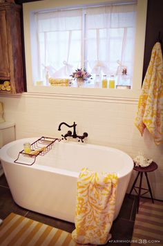 "Without the ""rustic"" fixtures and such, I love this tub. A Farm House Tour"