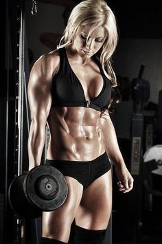 Ripped, but would still be super feminine in a dress. #fitspo