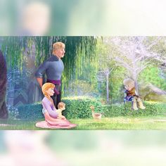 Kristanna and Alexandre , and Baby Pauline Bjorgman. Disney Princess Games, Princess Anna Frozen, Disney Princesses And Princes, Princess Movies, Disney Rapunzel, Disney Frozen Elsa, Disney Couples, Disney Family, Disney Dream