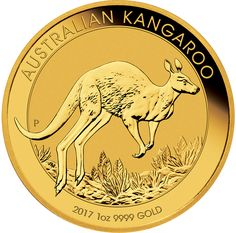 The 2017 Australian Kangaroo 1oz Gold Coin features a kangaroo bounding across the outback plain. Inscribed upon the reverse of the coin is 'AUSTRALIAN KANGAROO', the year-date, weight and fineness. The Perth Mint's 'P' mintmark also features in the design.  The obverse of the coin bears the portrait of Her Majesty Queen Elizabeth II, and the monetary denomination.  Each coin weighs 31.1g and is 999.9 Fine Gold. Minted and supplied by The Perth Mint, Australia. These coins are VAT free…