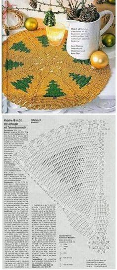 Adornando la Navidad con tapetes y cubremanteles espectaculares | Otakulandia.es Christmas Crochet Patterns, Holiday Crochet, Straw Bag, Holidays, Xmas, Crafts To Make, Holidays Events, Holiday, Vacation