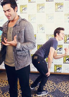 Tyler and Dylan. I'm not one-hundred-percent sure what either of them is doing...but look at Tyler's Jaw! <3