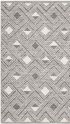 Aragam Hand-Woven Charcoal/Ivory Area Rug