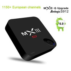 68.28$  Buy now - http://alizrc.worldwells.pw/go.php?t=32773227566 - Newest MXIII-G II S912 Octa Core Sky Italy UK DE European IPTV Box For Spain Portugal Turkish Netherlands Sweden French IPTV Box 68.28$