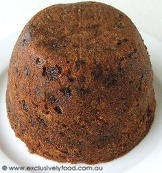 This steamed Christmas pudding is flavoured with a hint of spice and packed with dried and glace fruits. We use raisins, sultanas, dried d. Steamed Pudding Recipe, Pudding Recipes, Cake Recipes, Dessert Recipes, Xmas Pudding, Christmas Pudding, Carrot Pudding, Xmas Food, Christmas Cooking