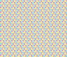 Hearts and kisses multicolor fabric by claudiaowen on Spoonflower - custom fabric
