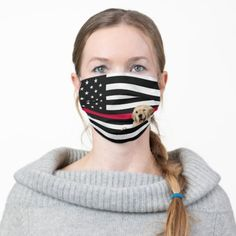 Firefighter flag with retriever adult cloth face mask firefighter tshirt, love my firefighter, firefighter diy decor #militarydad #fireengineer #firemedic, christmas decorations, thanksgiving games for family fun, diy christmas decorations Blue Line Police, Proud Wife, Yellow Line, Thin Blue Lines, Ear Loop, Shape Of You, Snug Fit, American Flag