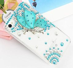 Handmade Luxury Designer Bling 3D Colorful Special Crystal Angle Wing Genius Case Cover For Samsung Galaxy Smart Mobile Phones (Galaxy Note 3 III N9000, Mint) | ShopExpress