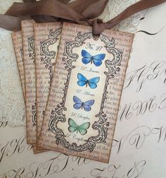 Butterfly Tags   Vintage Butterfly Tags  by CreativeVisions, $4.00