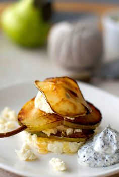 Ricotta & Caramelised Pear with Poppy Seed Yogurt FoodBlogs.com