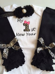 Baby girl 1st New years outfit  my first new years by AboutASprout, $43.00