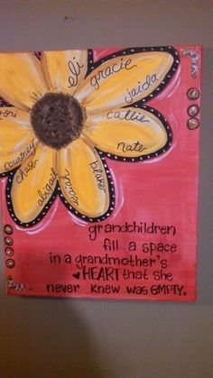 canvas painting ideas for grandma girl - Google Search