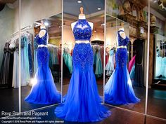 Look jaw dropping in this chic lace two piece with halter crop top and keyhole back! And it's at Rsvp Prom and Pageant, your source for the HOTTEST prom and pageant dresses! Cheap Mermaid Prom Dresses, Prom Dresses Two Piece, Prom Dresses 2017, Mermaid Evening Dresses, Pageant Dresses, Dance Dresses, Cute Dresses, Long Dresses, Grad Dresses