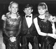 Catherine DENEUVE with Roman POLANSKI and Francoise DORLEAC in London 1965