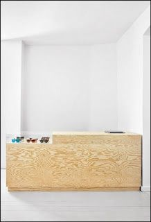 reception desk plywood - Google Search