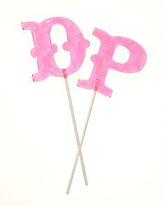 Vintage Confections custom hard-candy letter lollipops