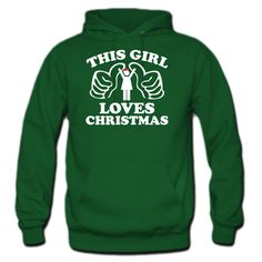 This Girl Loves Christmas HOODIE