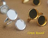 20pcs vintage antique bronze two bezels ring blank, ring base, nickel safe, lead free