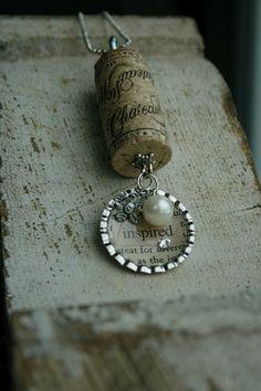 Wine Cork Necklace... by KoriCreates on Etsy, $24.00