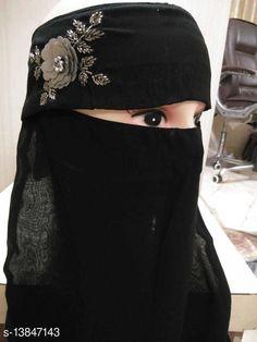 Hijab- Muslim Wear Women's Handwork Naqab Parda For Islamic Abaya And Burkha Nosepiece Fabric: Chiffon Multipack: 1 Sizes:  Country of Origin: India Sizes Available: Free Size   Catalog Rating: ★4.3 (758)  Catalog Name: Aagyeyi Refined Hijabs CatalogID_2733868 C74-SC1857 Code: 142-13847143-405