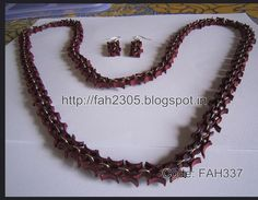 Lovely Quilled Necklace and Earrings set - by: FAH