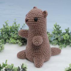 Groundhog (aka Woodchuck, Marmot) amigurumi crochet pattern