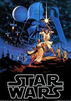 Star Wars Episode IV: A New Hope, originally released as Star Wars, is a 1977 American epic space opera film written and directed by George Lucas. Star Wars Film, Star Wars Episódio Iv, Star Wars Poster, Star Wars Art, Film Movie, Epic Film, Epic Movie, Images Star Wars, Bon Film