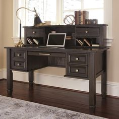 Amazon.com: Townser Home Office Desk Hutch: Office Products