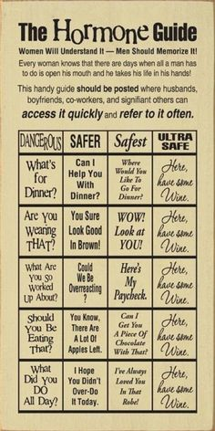 This Hormone Guide has us dying of laughter!! If we had a real office, it'd be printed and on the wall SO FAST.