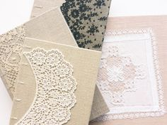 How to successfully glue different types of lace — paperiaarre Arts And Crafts, Paper Crafts, Diy Crafts, Bookbinding Tutorial, Bookbinding Ideas, Homemade Books, Scrapbook Cover, Types Of Lace, Art Journal Techniques