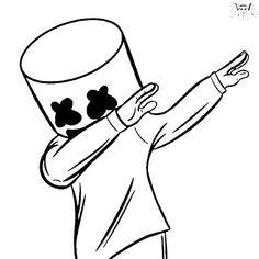 Marshmello Wallpapers and Top Mix Cool Art Drawings, Pencil Art Drawings, Art Drawings Sketches, Easy Drawings, Joker Drawing Easy, Joker Wallpapers, Cute Cartoon Wallpapers, Marshmello Wallpapers, Marshmello Dj