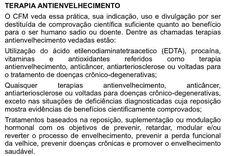 """Notícia boa eu faço questão de compartilhar! O Conselho Regional de Medicina de Goiás @cremego postou em seu site um alerta aos médicos e à sociedade sobre a proibição da prática da """"terapia antiaging"""" e de outros procedimentos sem evidências científicas. Tratamentos dermatológicos rejuvenescedores com comprovação científica não se enquadram na lista (embora sejam antiaging) porém o uso de hormônios para a chamada """"modulação hormonal"""" e suplementações sem qualquer benefício comprovado estão…"""