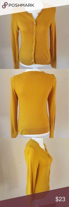 Loft cardigan Mustard full length cardigan. Button up. LOFT Sweaters Cardigans