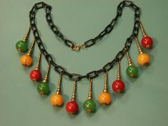 1940s bakelite necklace