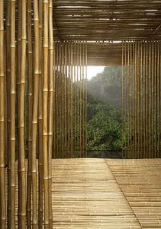 Kengo Kuma — Great (Bamboo) Wall house Lines create planes Architecture Design, Bamboo Architecture, Bamboo Art, Bamboo Crafts, Ideas Cabaña, Bamboo House Design, Design Oriental, Bamboo Building, Bamboo Structure