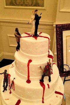 Tarta de boda zombi :)