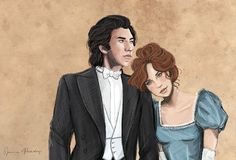 Artist Jenna Paddey (jpaddey.tumblr.com) created this beautiful character sketch of my hero and heroine, Kit and Ophelia, from Rules for a Rogue. Go To The Cinema, My Character, Rogues, My Hero, Romance, Actors, Mental Illness, Sketch, Beautiful