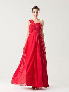 Abitha - Solo hombro corte imperio gasa vestido de damas de honor - EUR €119,88