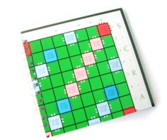 PERSONALISED Green Scrabble Recycled Board Game Journal / Notebook