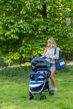 Billie Faiers MB30 Blue Stripes Pushchair | Baby Boutique
