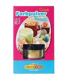 DekoBack 32269 Farbpulver Gold 3g Backen & Naschen Muffins Kuchen Plätzchen  - 2-flowerpower