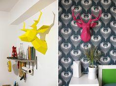 DIY/Passo a passo: faça uma cabeça de alce em papel para decoração;