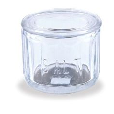 Anchor Hocking Fire King Clear Glass Salt Cellar Dip With Lid Kitchen Dining NEW