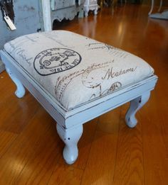 French Calligraphy Foot Stool