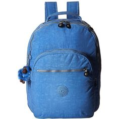 Kipling Seoul Backpack with Laptop Protection (Blue Skies) Backpack... ($114) ❤ liked on Polyvore featuring bags, backpacks, kipling bags, laptop travel backpack, padded laptop backpack, kipling backpack and laptop backpack