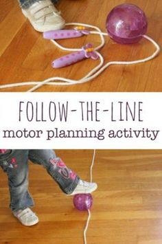 Kids will love this indoor play motor planning activity using just a jump rope and a ball with gross motor play that is sure to inspire smiles. Occupational Therapy Activities, Pediatric Physical Therapy, Motor Skills Activities, Movement Activities, Physical Education Games, Gross Motor Skills, Sensory Activities, Learning Activities, Preschool Activities