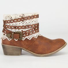 Lace & Leather Boots