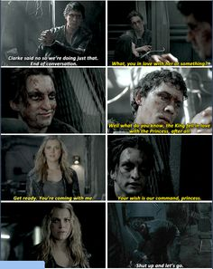 I don't know why but I like it that Murphy finds out but doesn't say anything to Clarke.